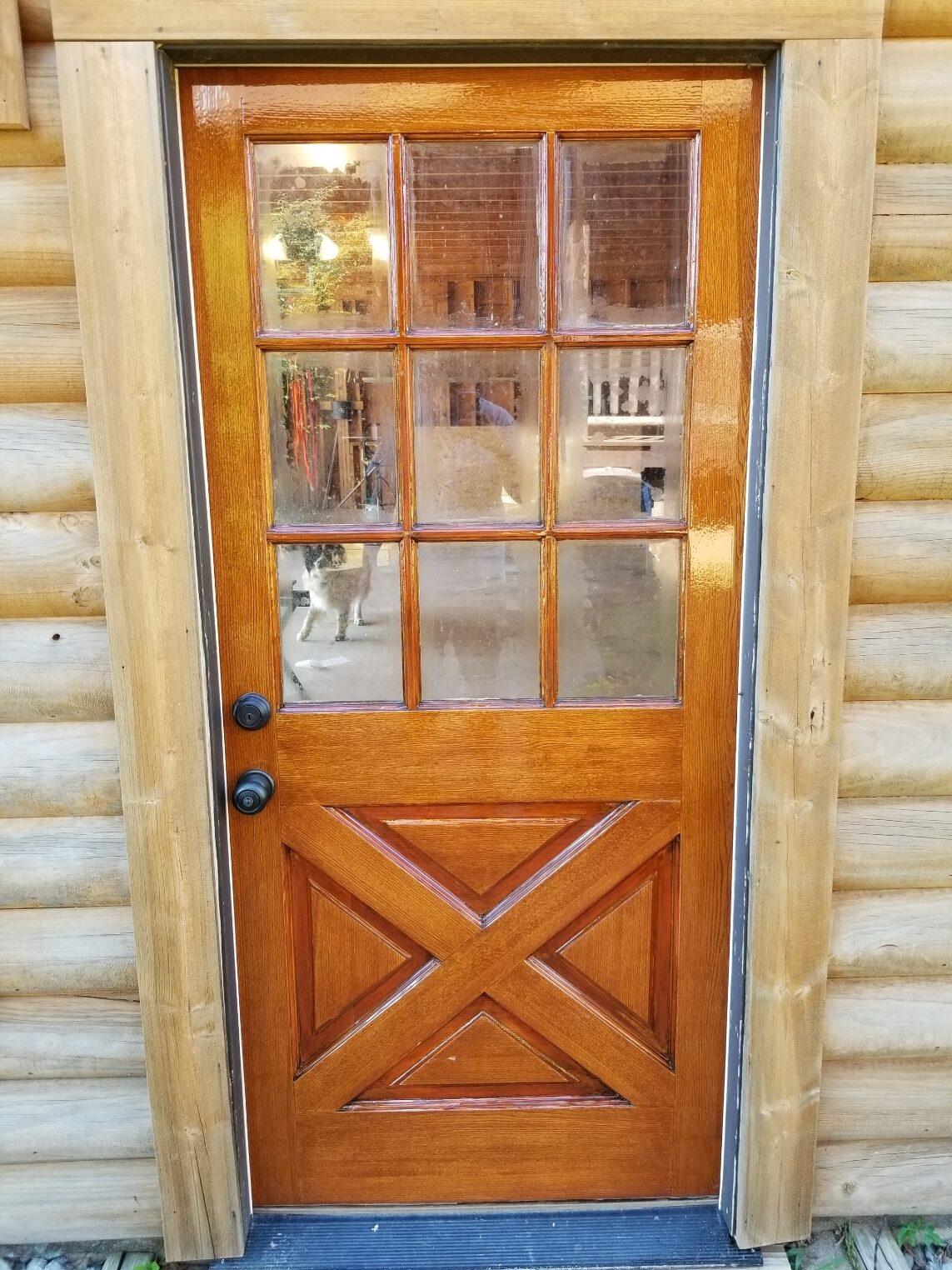 Door repair and finish