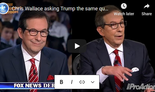 I have to question the political motivation of Chris Wallace
